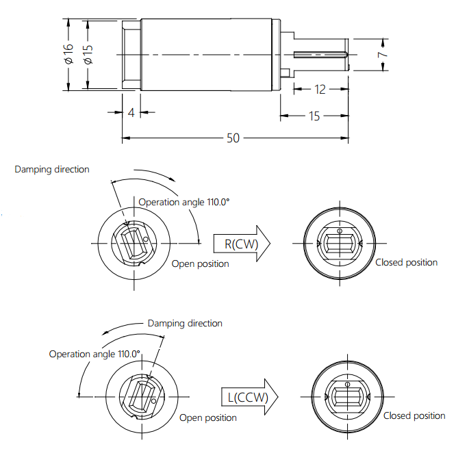 Rotary Damper For Toilet Seat Cover