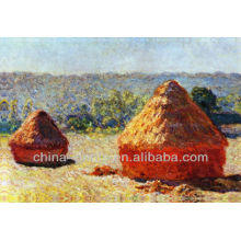 Pintura al óleo natural del campo de arroz del diseño para la decoración casera