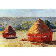Pintura de óleo natural do campo de almofada do projeto para a decoração Home