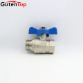 GutenTop High Quality and Hot Sale PN25 Brass Nickle Plated Buttefly Ball Valve