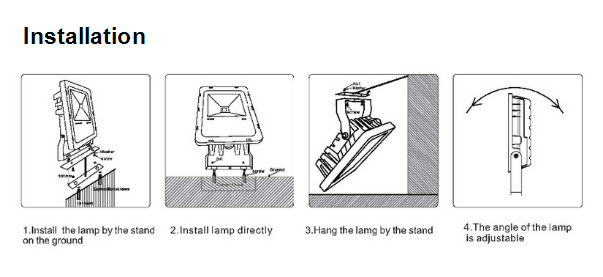Installation method of Flood Light
