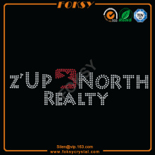 Z'Up North Realty parches de diamantes de imitación