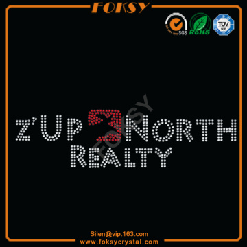 Z'Up North Realty rhinestone แพทช์