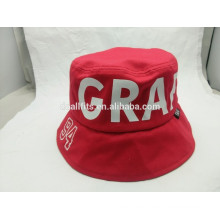 2016 modificado para requisitos particulares impreso con el sombrero del cubo del emboridery hecho en alta calidad de China