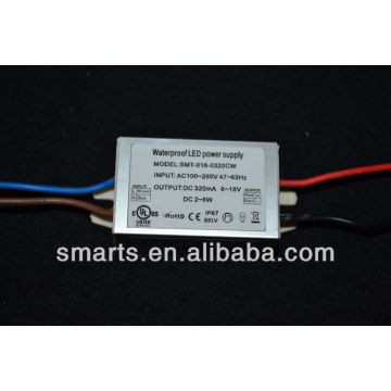 UL approved led driver 320mA 2~6W