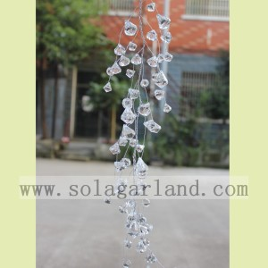Acrylic Transparent Diamond Shape Bead Garland Tree Branches