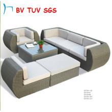 Meubles extérieurs en aluminium de rotin de jardin de sofa de sofa