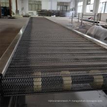 Convoyeur à bande en treillis métallique en acier inoxydable