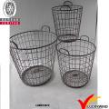 Round Set 2 Handgefertigte Rustikale Dekorative Wire Mesh Korb