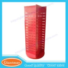 Rojo 360 grados que giran el estante de los accesorios de la exhibición