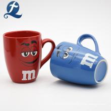 Eco amigable diseño personalizado taza de agua potable taza de cerámica de dibujos animados