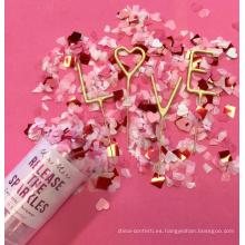 Las decoraciones de la fiesta de cumpleaños de las novedades de China que casan empujan el confeti del estallido con confeti de papel modificado para requisitos particulares