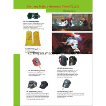 Fornecimento de preço de fábrica Máscara de segurança de qualidade superior com vidro, 2016 Capacete de soldagem vendendo quente Capacete de solda de lente econômica