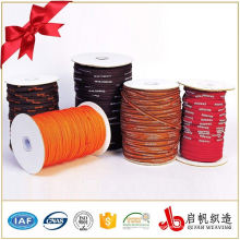 100% полиэстер жаккардовые ленты / лямки / изготовленный на заказ логосом жаккарда ленты для одежды