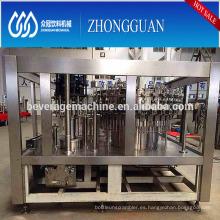 Enfriador de bebidas de gas Enjuagadora-llenadora-tapadora 3-en-1 línea de proceso de la máquina Opción de calidad