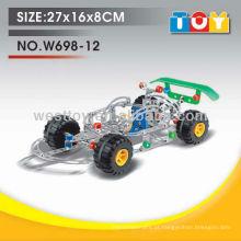 DIY metal racing car play toy para crianças