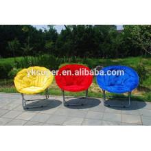 Cadeira de lua metálica dobrável para adultos e crianças