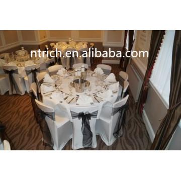 100% poliéster toalha de mesa branca para vários occations, branco visto toalha de mesa
