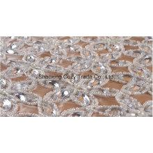 Qualitäts-Art- und Weisekorn-Kristallstickerei-Art für Kleid-Kleid durch Handarbeit