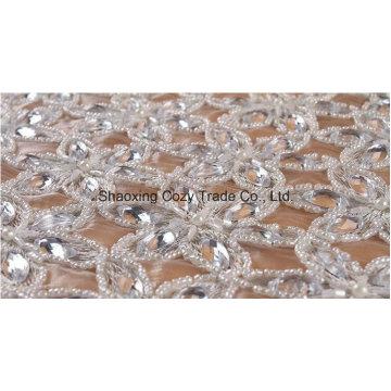 Perles de mode de haute qualité Style de broderie en cristal pour vêtement de vêtement par travail manuel