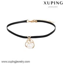 44043 xuping atacadistas de jóias personalizadas na China popular pérola 18k pingente de colar de ouro com preço de promoção