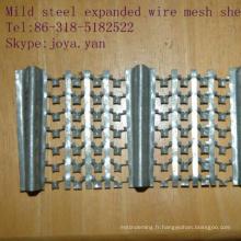 Feuilles de treillis soudées en acier doux