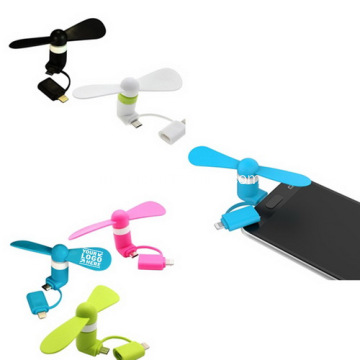 Logo promosi Imprinted Mini USB Fans