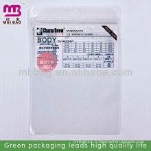 Des sacs en plastique à fermeture à glissière et à fermeture à glissière conçus sur mesure