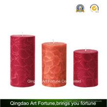 Vela perfumada hecha a mano del pilar del crujido para la decoración casera