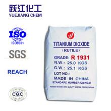 Rucio y anatasa de dióxido de titanio de grado bajo de metal pesado