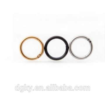 316L Surgical Steel Hinged Seamless Septum Clicker Ring
