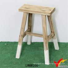 Taburete decorativo de madera maciza hecha a mano de la vendimia
