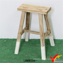 Vintage Handmade Decorative Solid Wood Stool