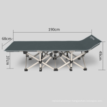 Modern Adult Portable Metal Steel Tube Army Military Double Twill Guest Cot Folding Bed