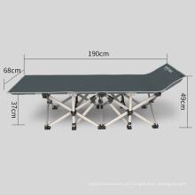 Tubo de aço de metal adulto moderno militar exército sarja dupla convidado berço cama de dobramento