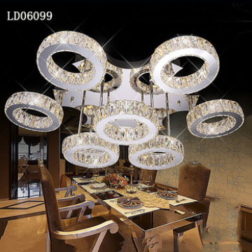 LD06099 lámparas de cristal moderno de lujo decorar cinco luz siver color Euro-Pop