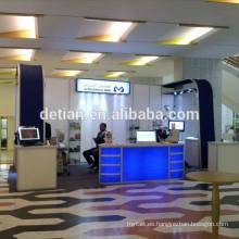 Stand de exhibición de tela de tensión de 10x20 pies 3x6, estilo de arco y tres lados espacio de cabina abierta 10x20