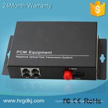 Multiplexeur de téléphone de certification de la CE / FCC / RoHs 2ch Voice FXO / FXS Modem de fibre optique