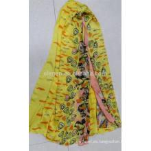 En Stock Color Mixto Poliéster Impreso Bufanda