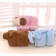 Высокое качество плюшевые животных Детское одеяло с головой формы слона