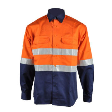 Cotton FR Hi Vis Work Safety Shirt