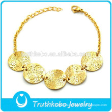 TKB-B0170 Big Round Medal New Trendy Handmade Men Bracelet 2014