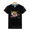 Sechs Farben Custom Großhandel Mode Druck Baumwolle Männer T-Shirt