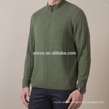 16STC8160 men turtleneck cashmere pullover with half zipper