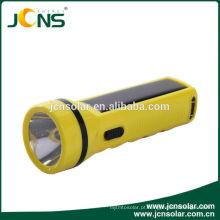 0.35W 3.2V recarregável alimentado solar lanterna tocha para uso doméstico