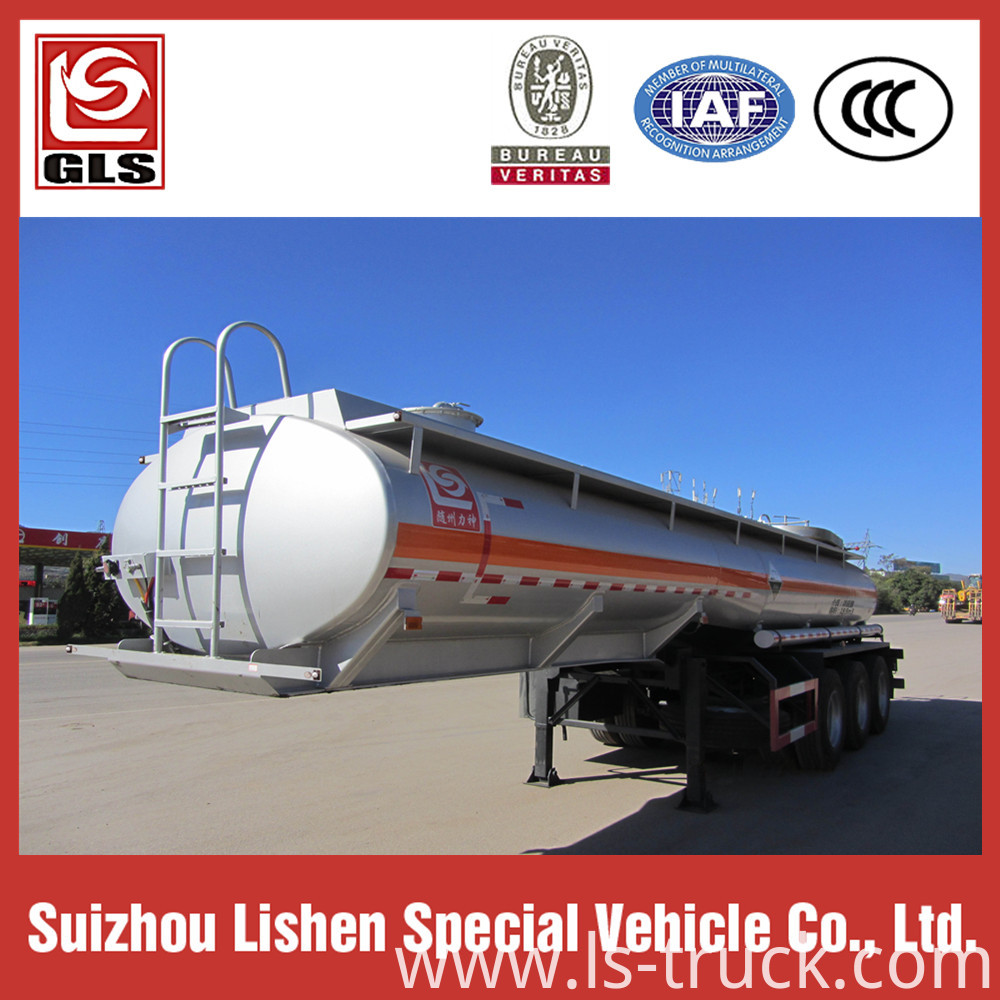Stainless Steel Chemical Semi Trailer Tanker Truck
