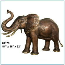 Antique Cast Bronze Elephant Statue For Sale