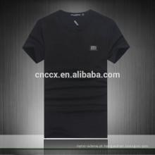 15PKT018 2015 alta qualidade plain cotton bambu camiseta homens