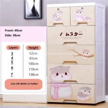 Cartoon Multi-layer Drawer Baby Storage Drawer Cabinet