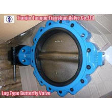 EPDM Ductile Iron Pneumatic Butterfly Valve Gear Operator 2